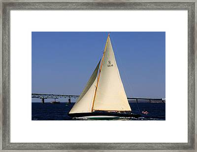 The 12 Meter Newport Framed Print by Tom Prendergast