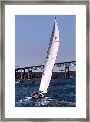 Framed Print featuring the photograph The 12 Newport Rhode Island by Tom Prendergast