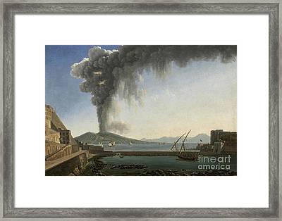 The 1813 Eruption Of Vesuvius Naples Framed Print