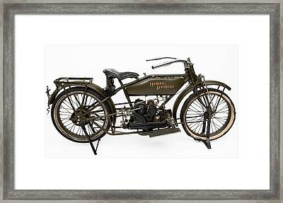 The 1919 Harley Davidson Twin Sport Model  Framed Print by American School