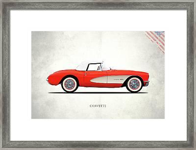 The 1957 Corvette Framed Print by Mark Rogan