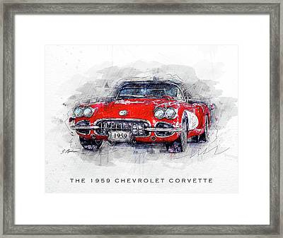 The 1959 Chevrolet Corvette Framed Print