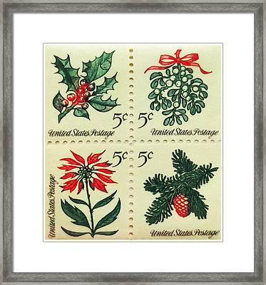The 1964 Christmas Stamps Framed Print