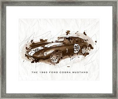 The 1965 Ford Cobra Mustang Framed Print by Gary Bodnar