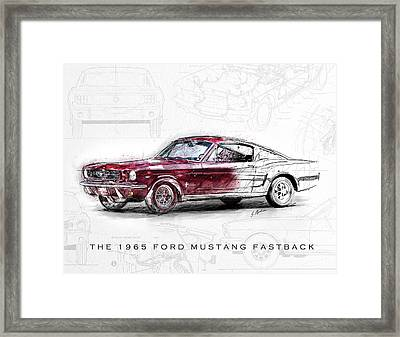 The 1965 Ford Mustang Fastback  Framed Print