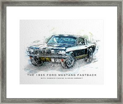 The 1965 Ford Mustang Fastback II Framed Print by Gary Bodnar