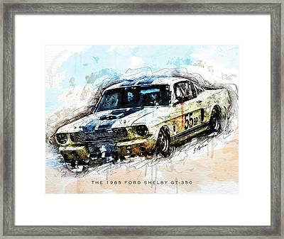 The 1965 Ford Shelby Gt 350 II Framed Print by Gary Bodnar