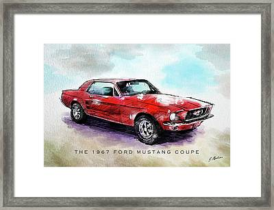 The 1967 Ford Mustang Coupe Framed Print by Gary Bodnar