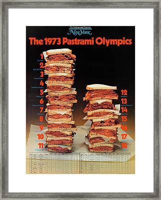 The 1973 Pastrami Olympics Framed Print