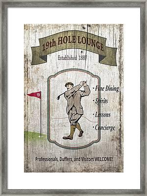The 19th Hole Lounge Framed Print