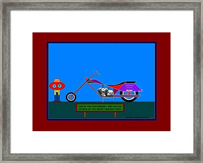 The 2016 Custom Mush Farm Bike. Framed Print by Richard Magin