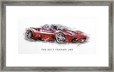 The 2017 Ferrari J50 Framed Print
