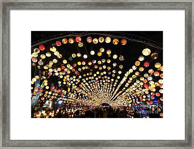 Framed Print featuring the photograph The 2017 Lantern Festival In Taiwan by Yali Shi