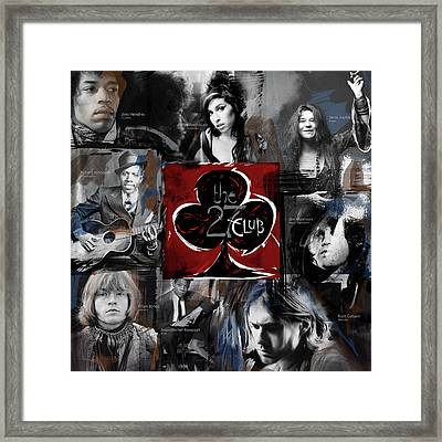 The 27 Club Framed Print