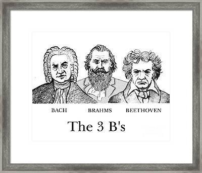The 3 B's Framed Print by Paul Helm