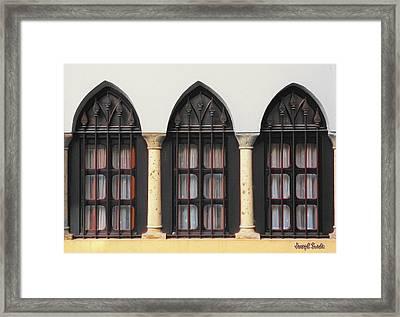 The 3 Windows Framed Print
