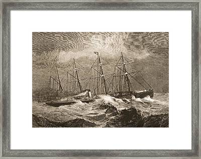 The 3867 Tons Steamship Celtic Crossing Framed Print by Vintage Design Pics