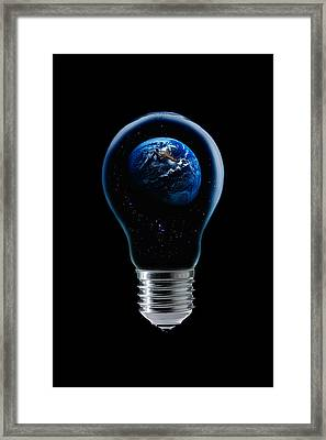 The 4 Elements Iv Framed Print by Stefan Eisele