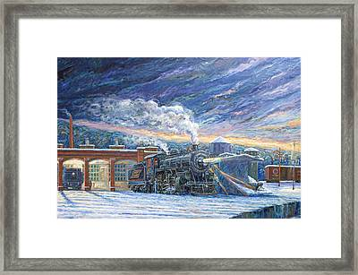 The 501 In Winter Framed Print by Gary Symington