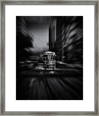 The 512 St. Clair Streetcar Toronto Canada Flow Framed Print by Brian Carson