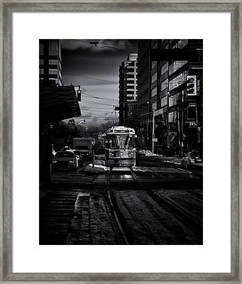 Framed Print featuring the photograph The 512 St.clair Streetcar Toronto Canada by The Learning Curve Photography