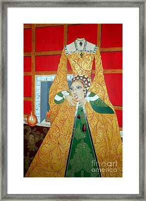 The 5th, Beheaded -- Tudor Portrait, Catherine Howard, #3 In Famous Flirts Series Framed Print