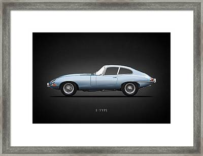 The 65 E-type Coupe Framed Print by Mark Rogan