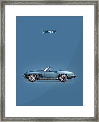 The 67 Corvette Stingray Framed Print by Mark Rogan