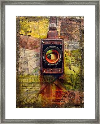 the 7 contemporary sins - Envy Framed Print by Janelle Schneider