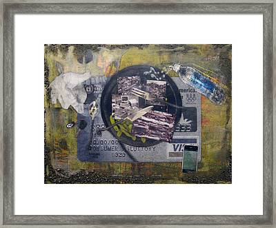 the 7 contemporary sins - Gluttony Framed Print