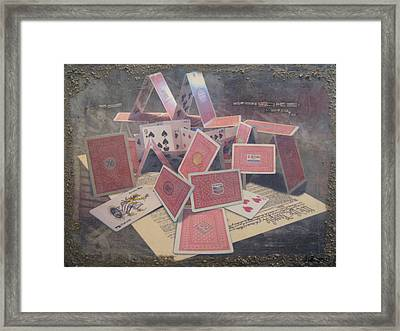 the 7 contemporary sins - Greed Framed Print by Janelle Schneider