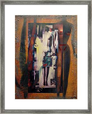 the 7 contemporary sins - Vanity Framed Print by Janelle Schneider