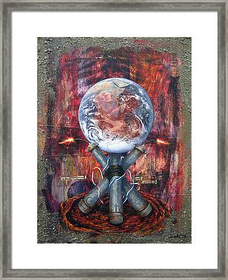 the 7 contemporary sins - Wrath Framed Print