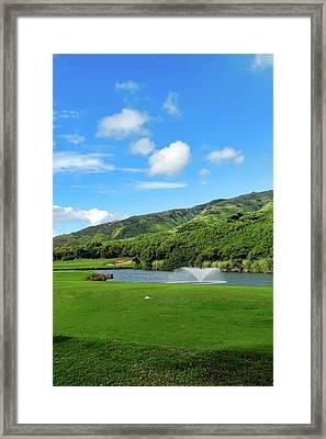 The 8th Hole At Kahili Golf Course Framed Print