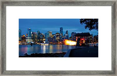 The 9 O'clock Gun In Vancouver Framed Print by Alexis Birkill
