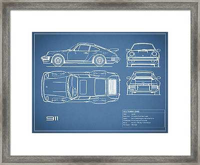 The 911 Turbo Blueprint Framed Print