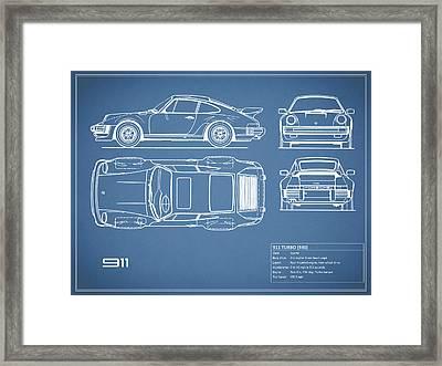 The 911 Turbo Blueprint Framed Print