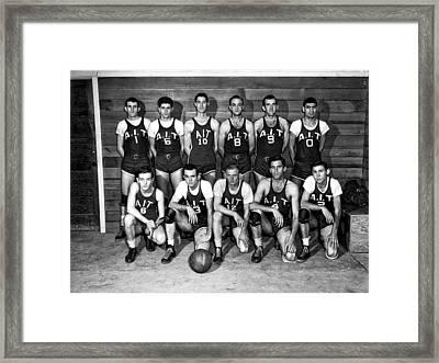 The A I T Oak Ridge Tennessee Basketball Team 1947 Framed Print by Mountain Dreams
