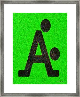 The A With Style - Da Framed Print