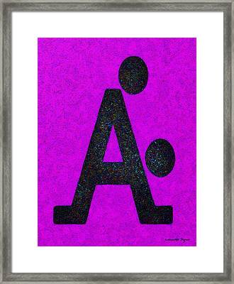 The A With Style Purple - Da Framed Print