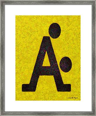 The A With Style Yellow - Pa Framed Print
