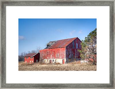 The Abandoned Barn Framed Print by Nick Mares
