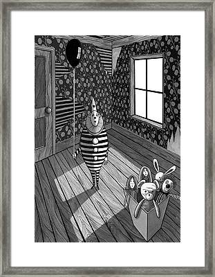 The Abandoned Clown  Framed Print