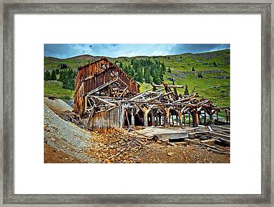 The Abandoned Frisco Mill Framed Print