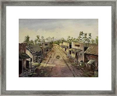 Abandoned Street  Framed Print by Bryan Benson