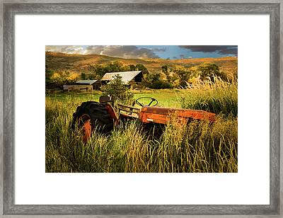 The Abandoned Tractor - 2 Framed Print by TL Mair