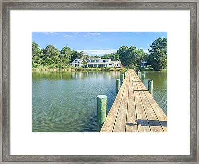 The Abbey On Cooper Point Framed Print