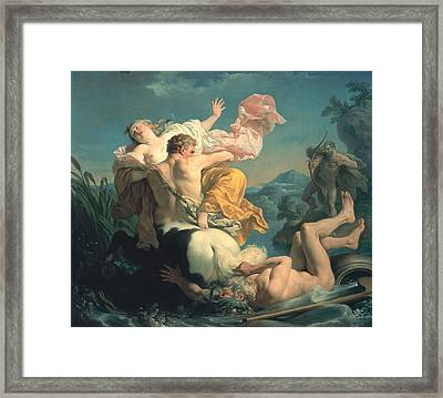 The Abduction Of Deianeira By The Centaur Nessus Framed Print by Louis Jean Francois Lagrenee