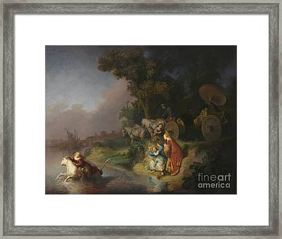 The Abduction Of Europa By Rembrandt Harmensz. Van Rijn Framed Print by Esoterica Art Agency