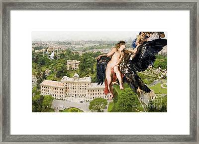 The Abduction Of Ganymede From St.peters Basilica Framed Print